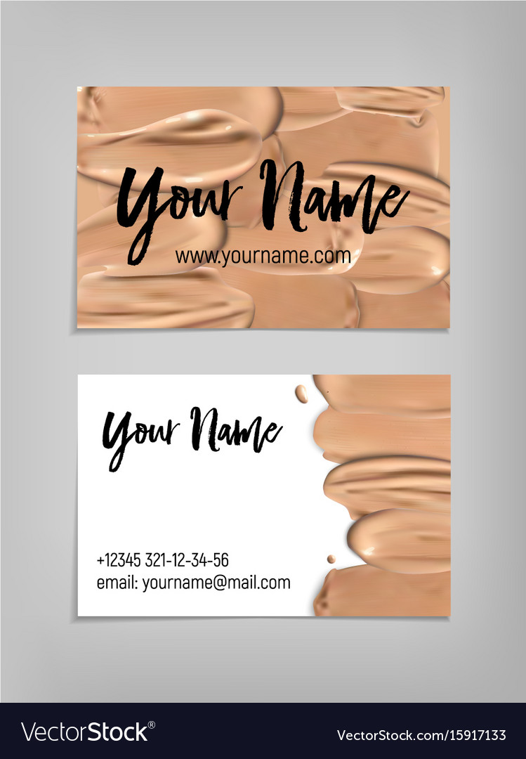 makeup artist business card template vector image - Artist Business Cards