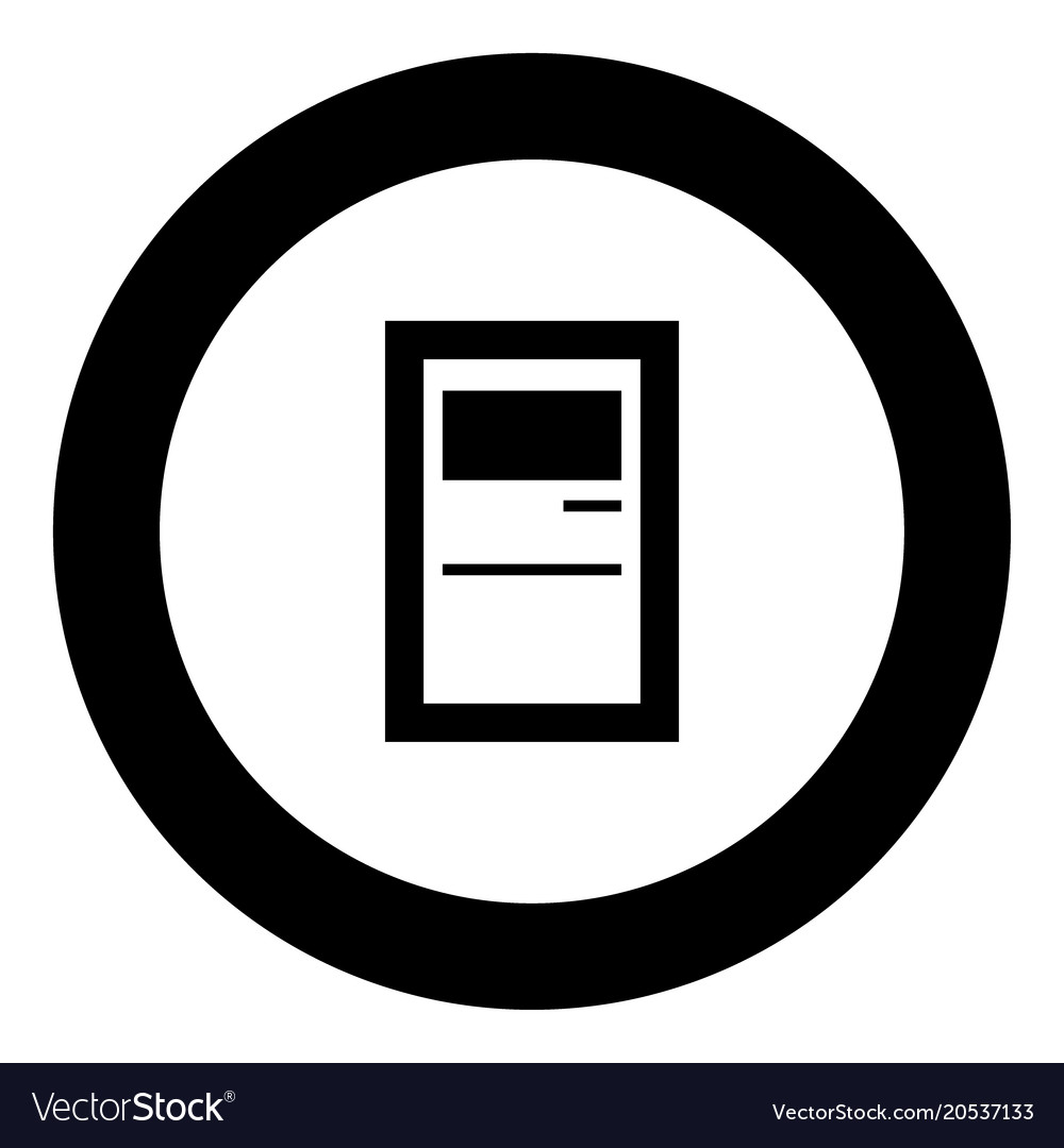 Service terminal black icon in circle