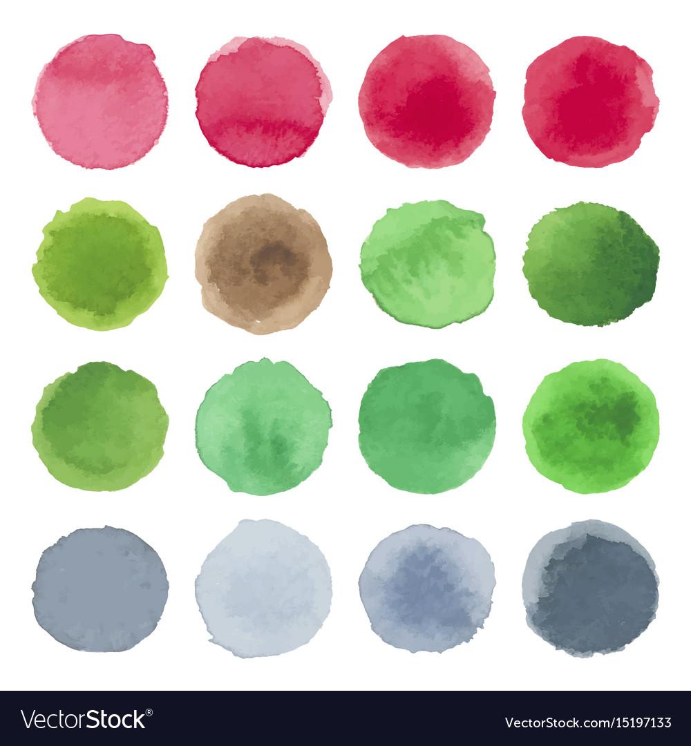 Watercolor circle texture multicolored blots