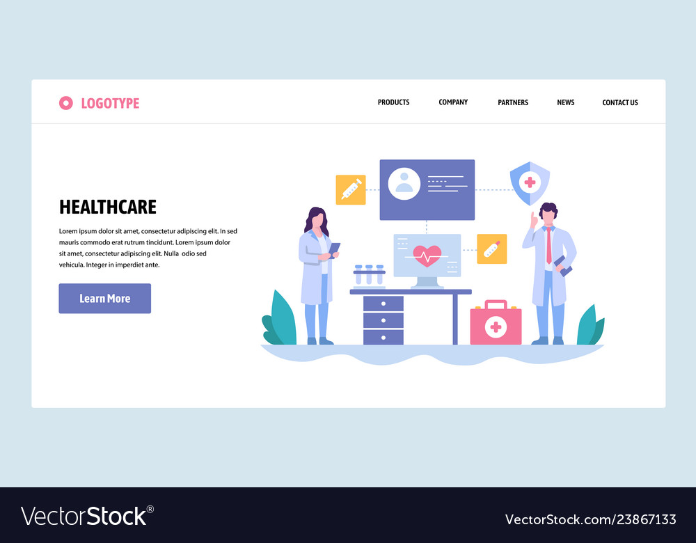 Web site gradient design template doctor