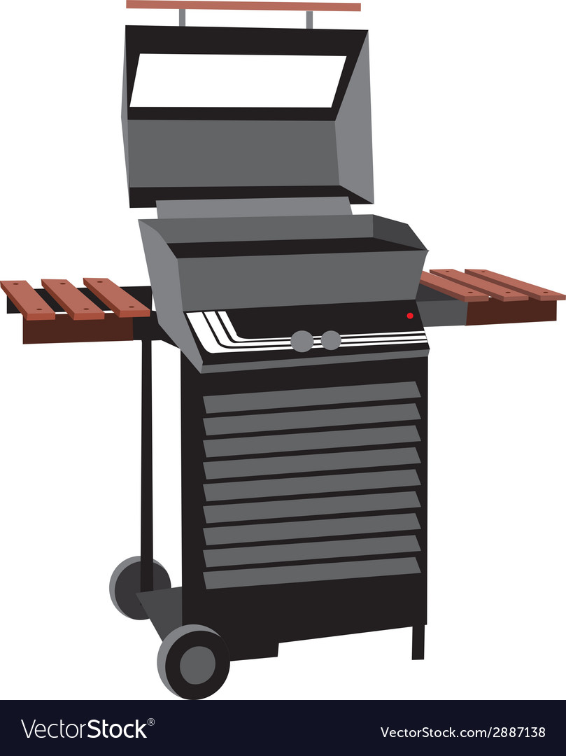 BBQ grill isolated