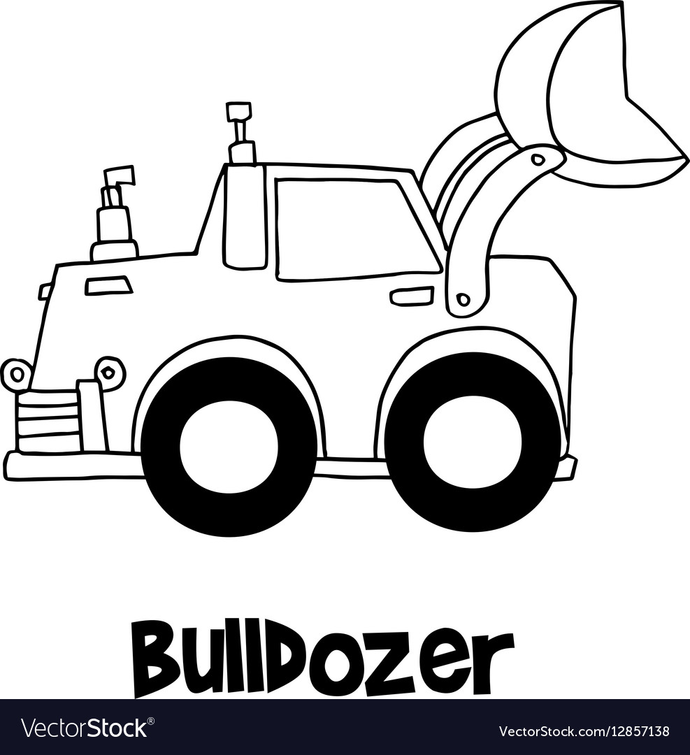 Bulldozer with hand draw