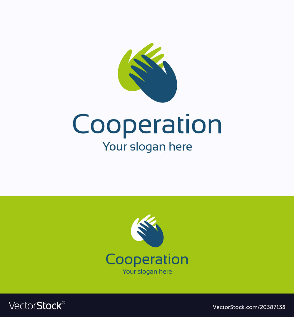 Cooperation logo vector image