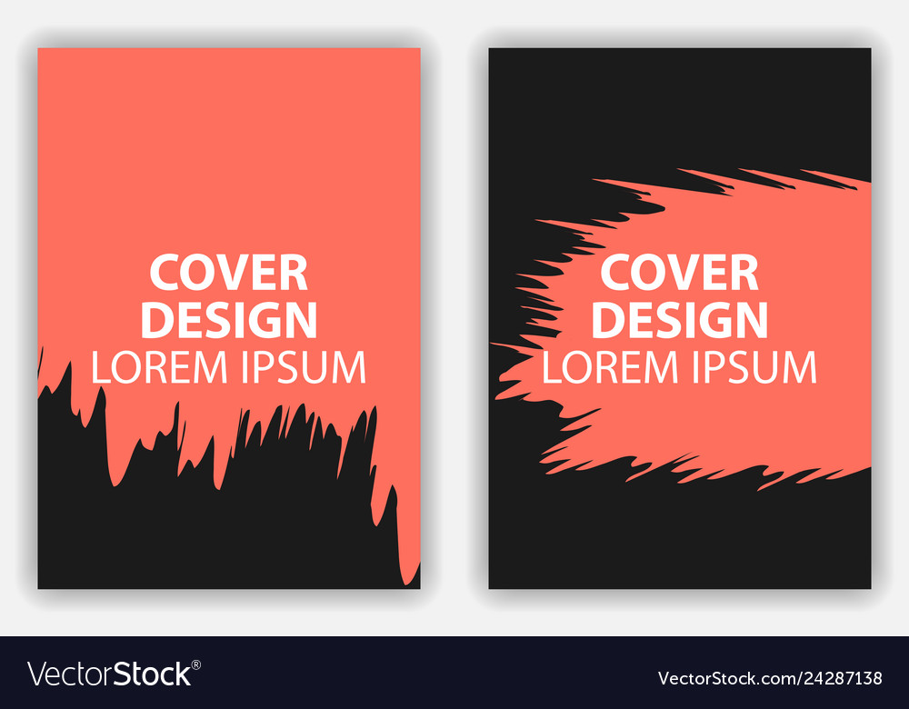 Cover design poster in grunge style brochure