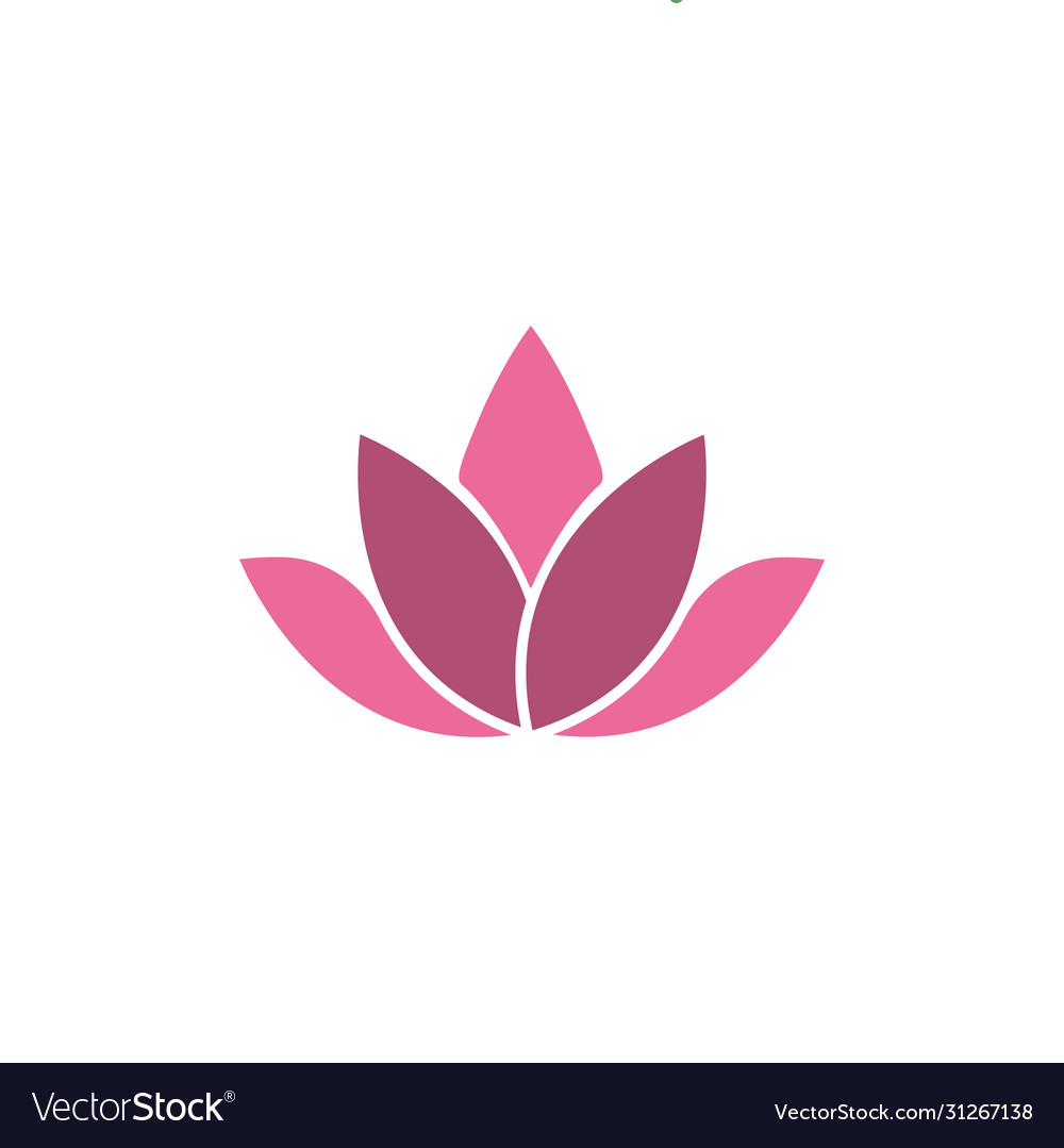 Lotus flower icon design template isolated
