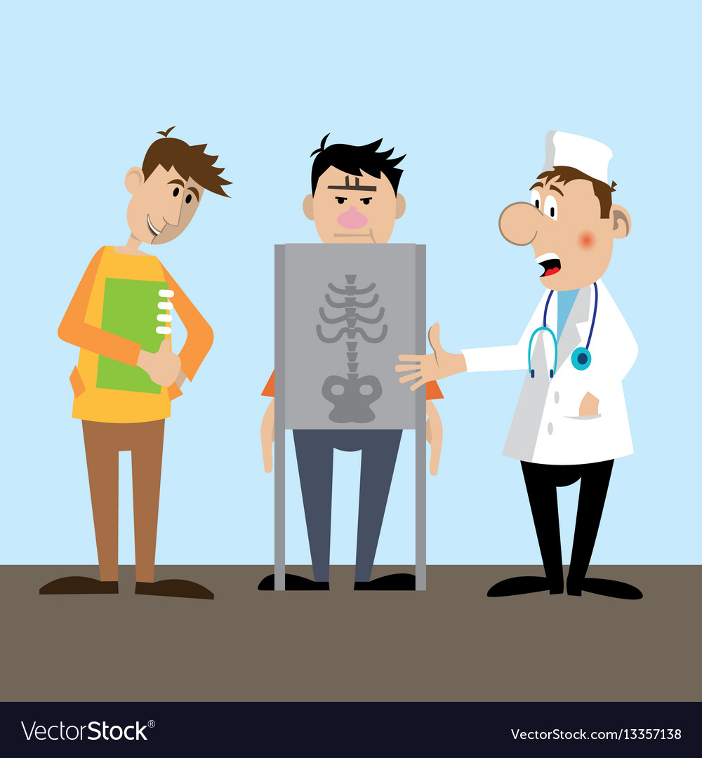 Making the patient x-ray vector image