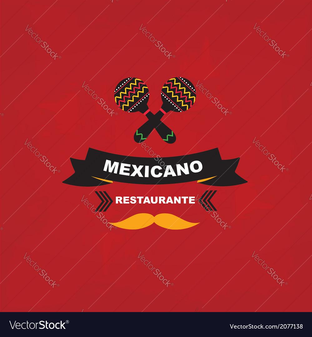Menu mexican template design