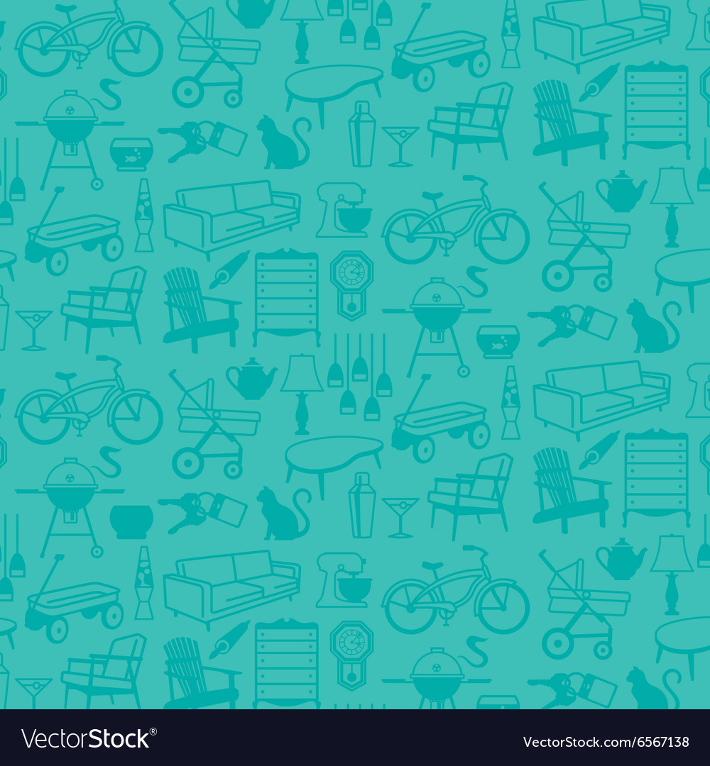Seamless pattern of Retro Home Icons