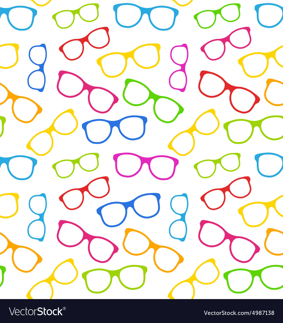 f52b197be9e Seamless texture with colorful eyeglasses vector image jpg 949x1080 Colorful  eyeglasses