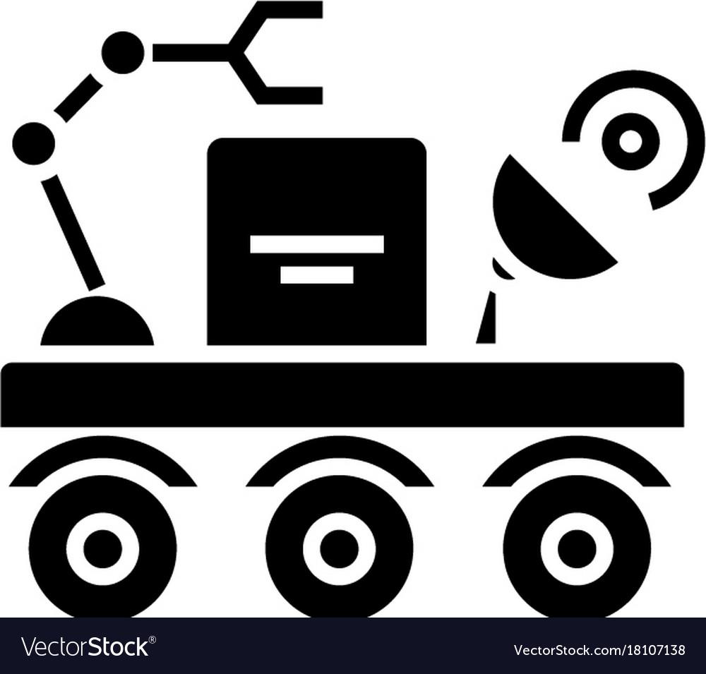 Space vehicle icon black