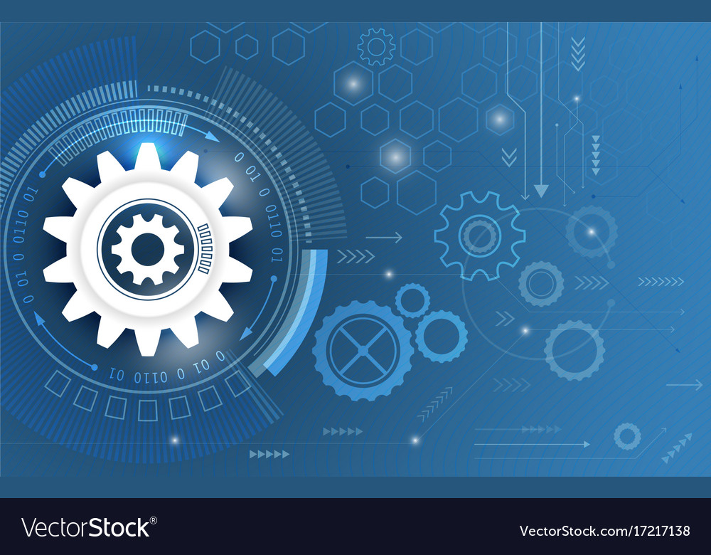 Technological abstract background with gear