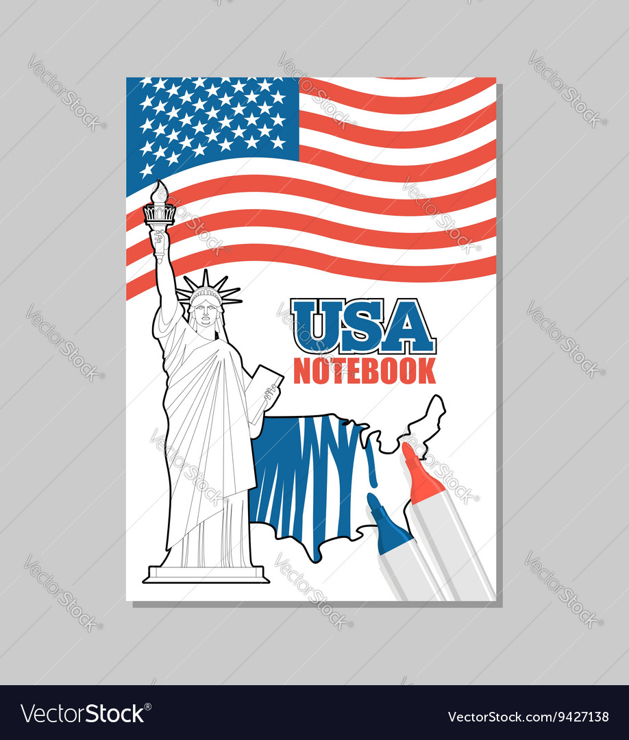 USA notebook American Covers for coloring booklet