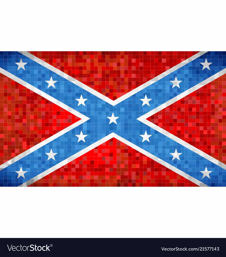 Abstract grunge mosaic confederate flag