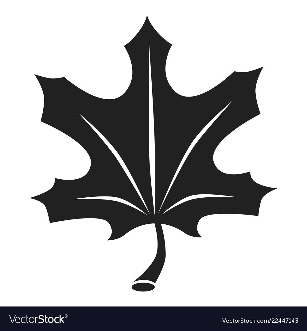 Autumn leaf icon simple style