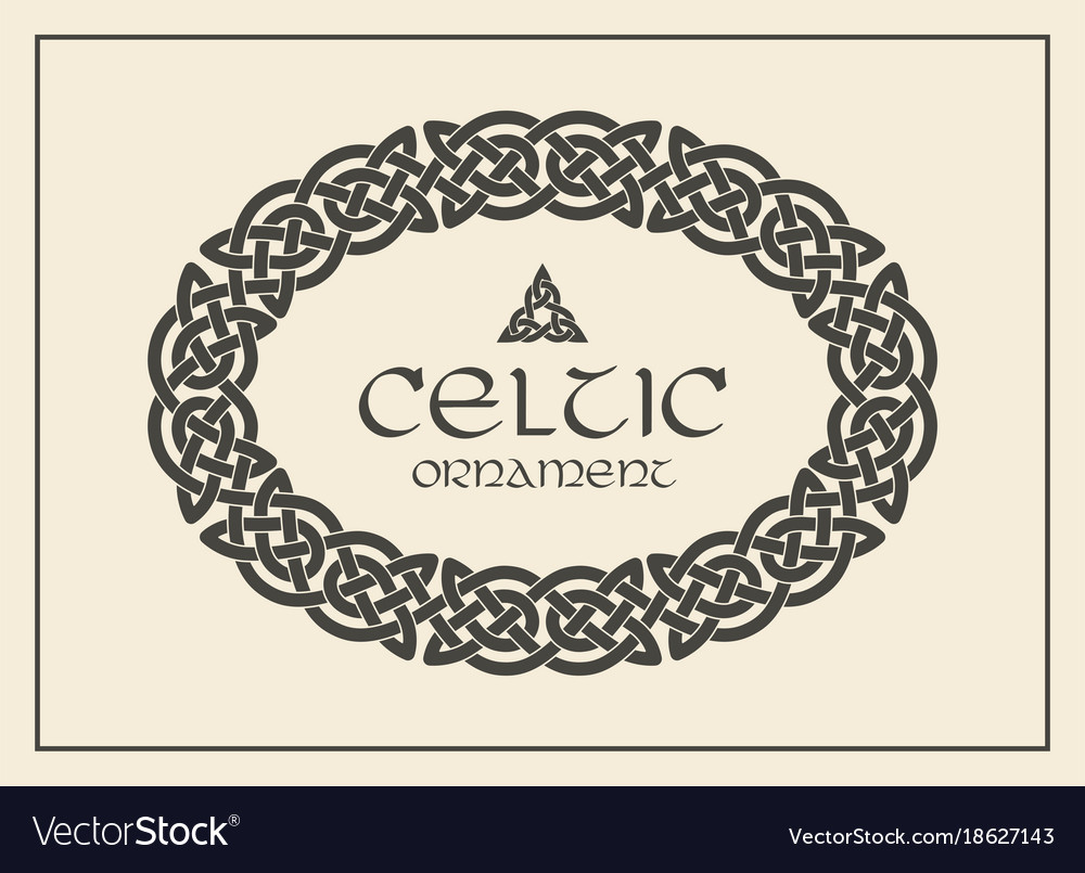 Celtic knot braided frame border ornament a4 size