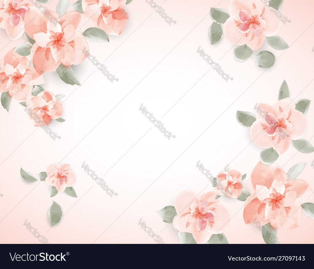 Floral spring for wedding greeting text