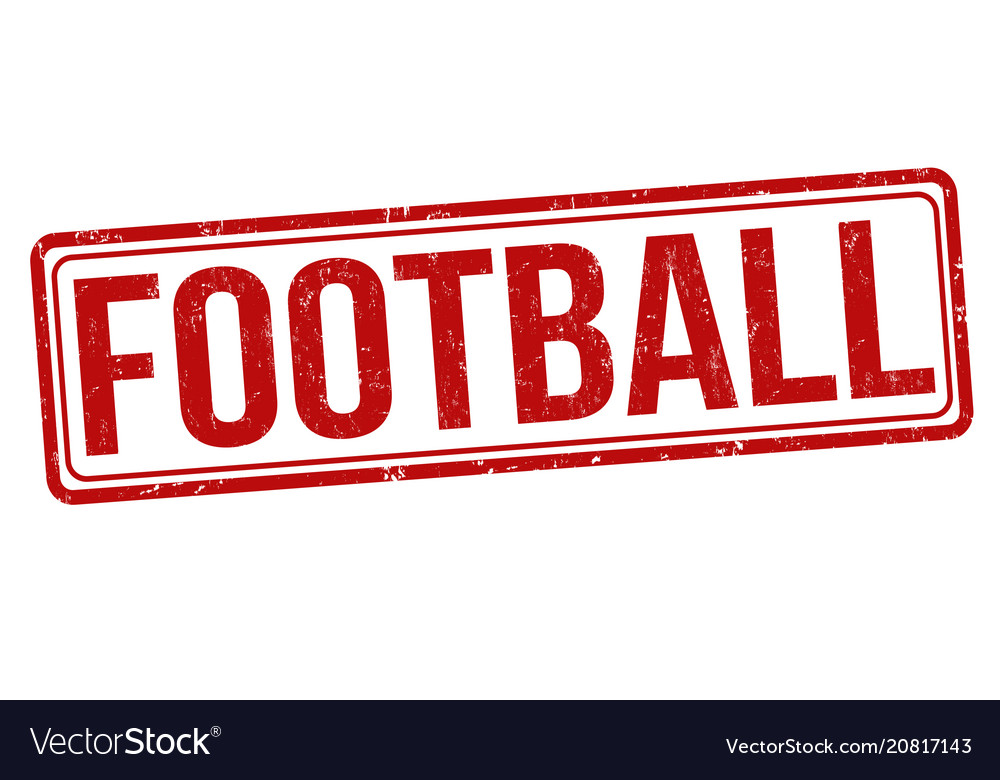 Football grunge rubber stamp vector image on VectorStock