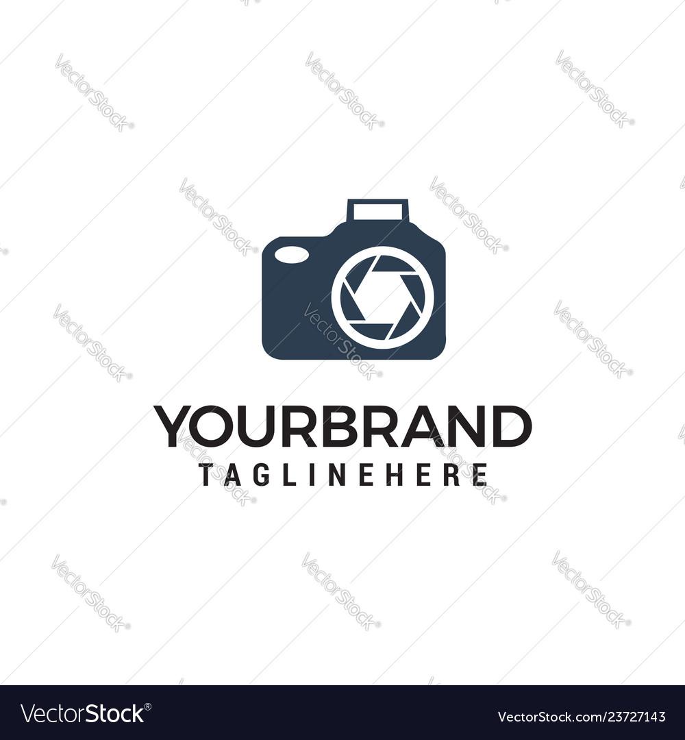 Photo camera logo design template