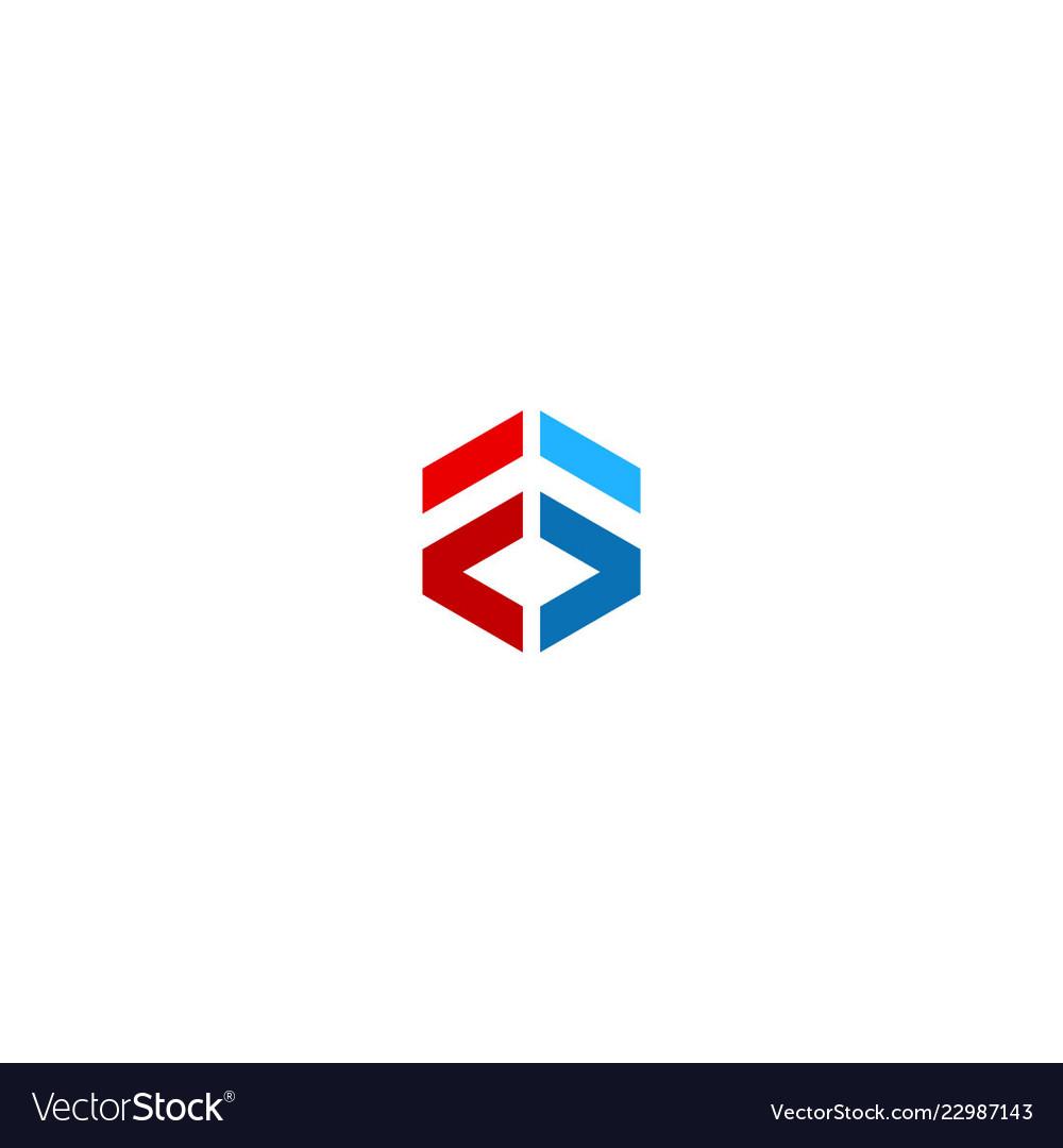 Shape geometry 3d colored logo
