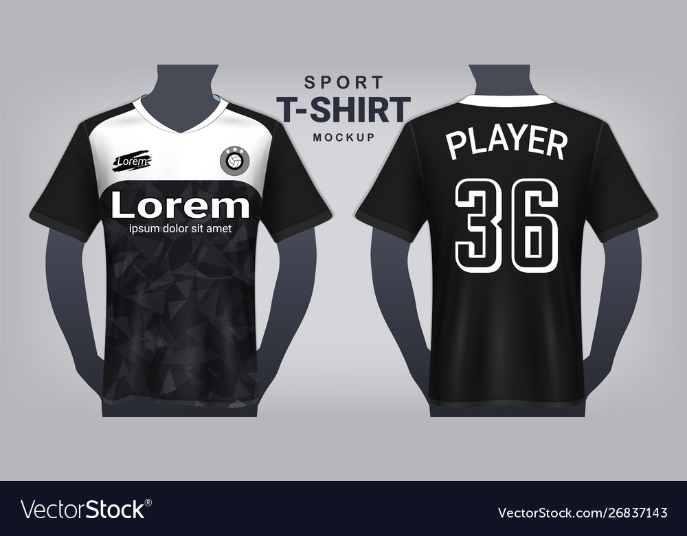 Soccer Jersey And Sport T Shirt Mockup Template Vector Image