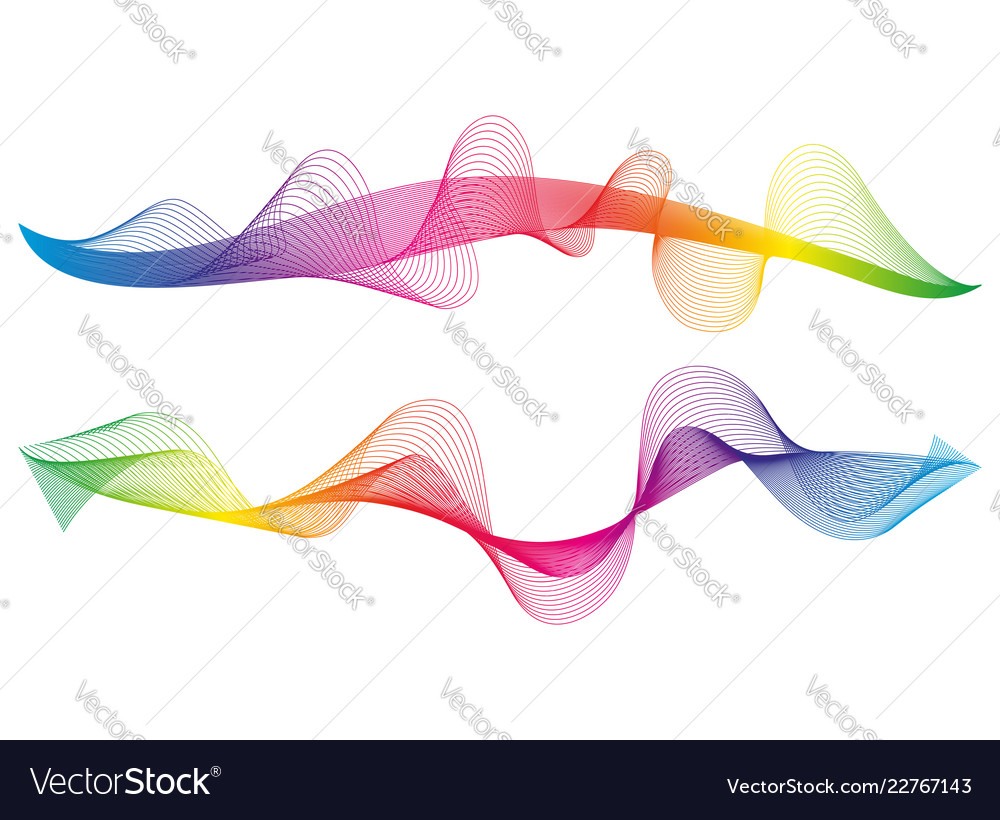 Wave of the many colored lines