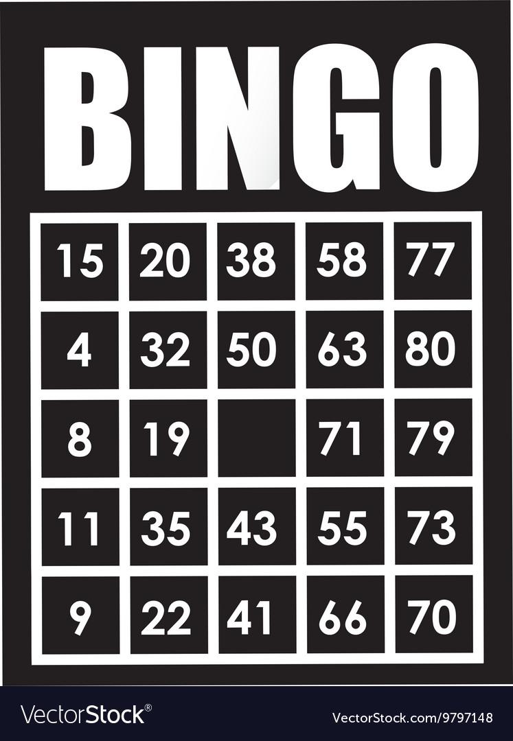 Bingo card isolated icon design