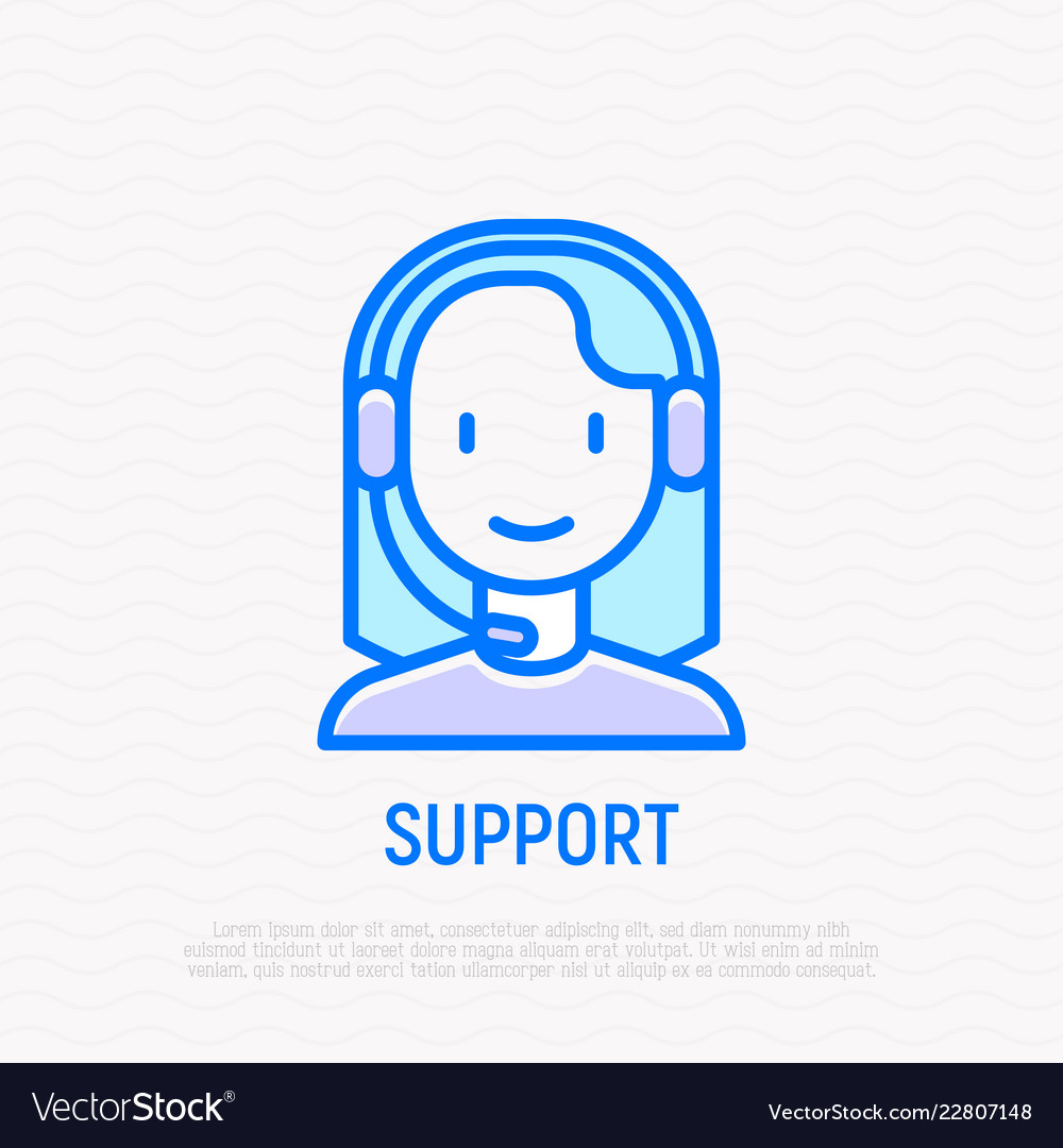 Call center operator young woman in headset