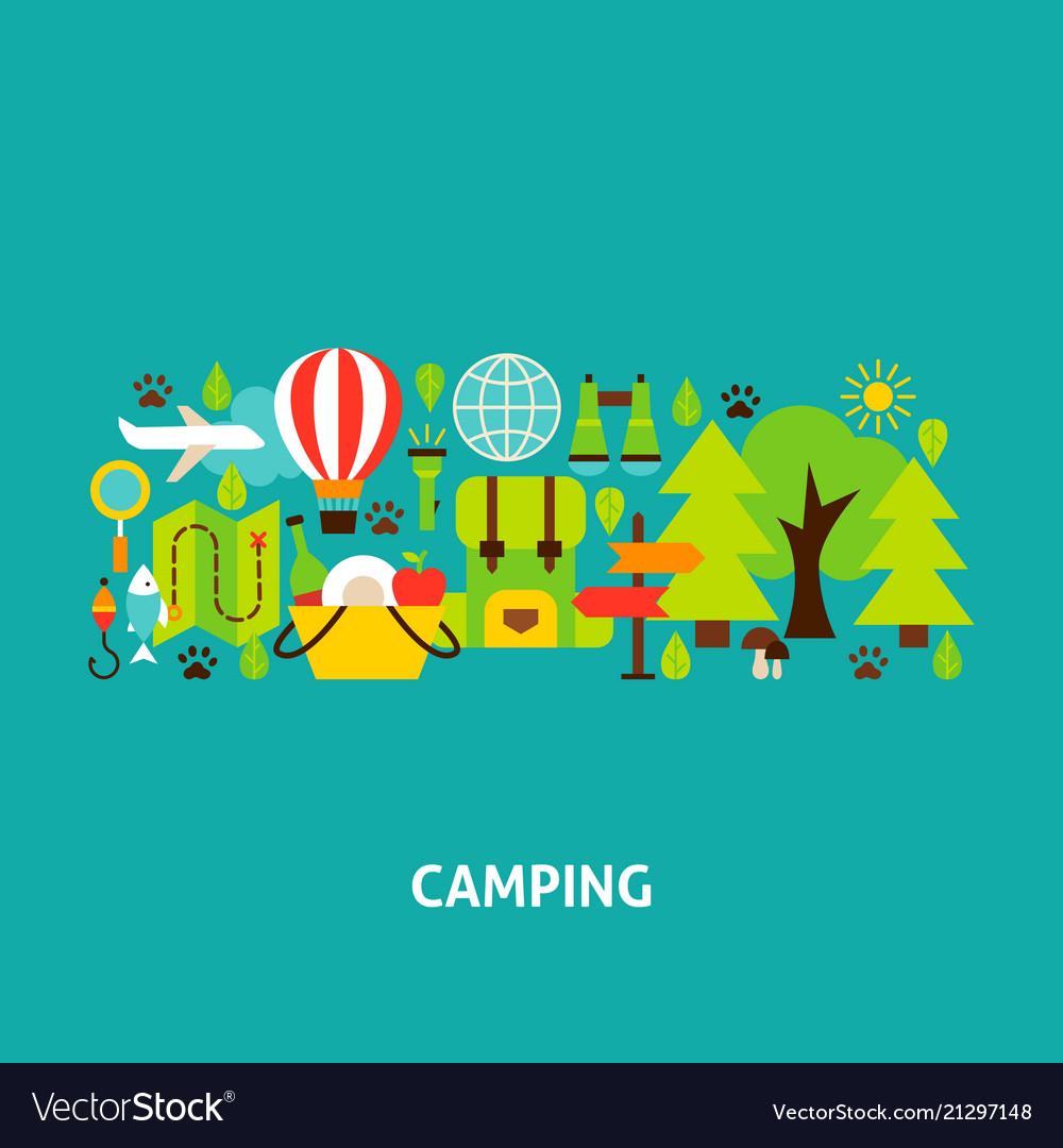 Camping greeting card