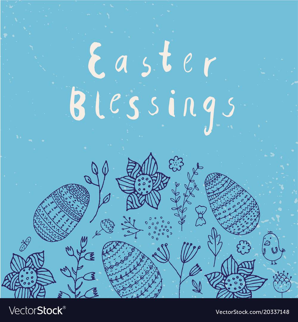 Easter poster card banner brushpen
