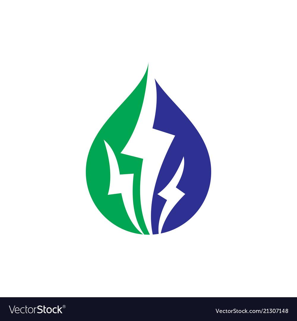 Electric eco business logo