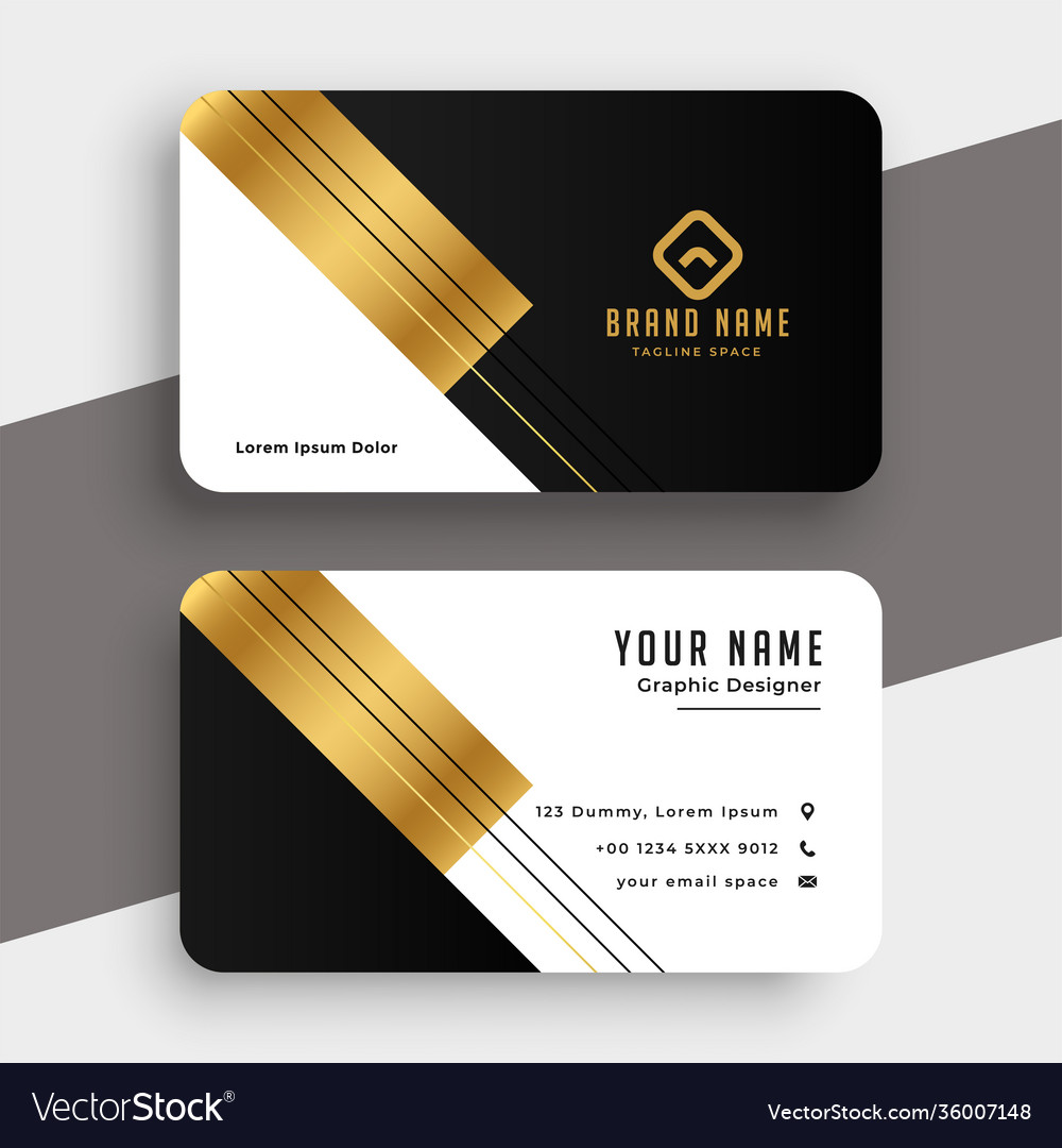 Golden luxury premium business card design