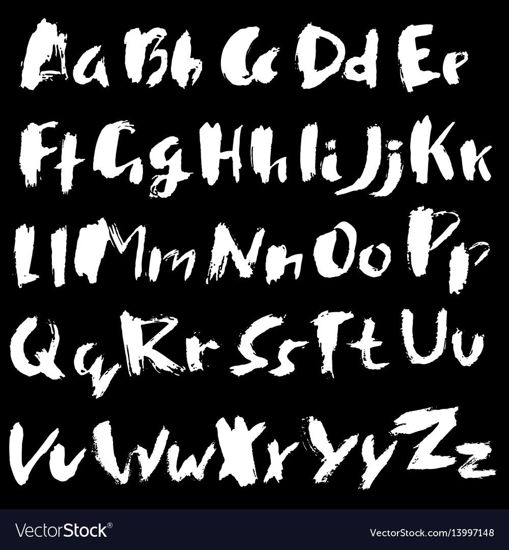 Hand drawn dry brush font modern brush lettering