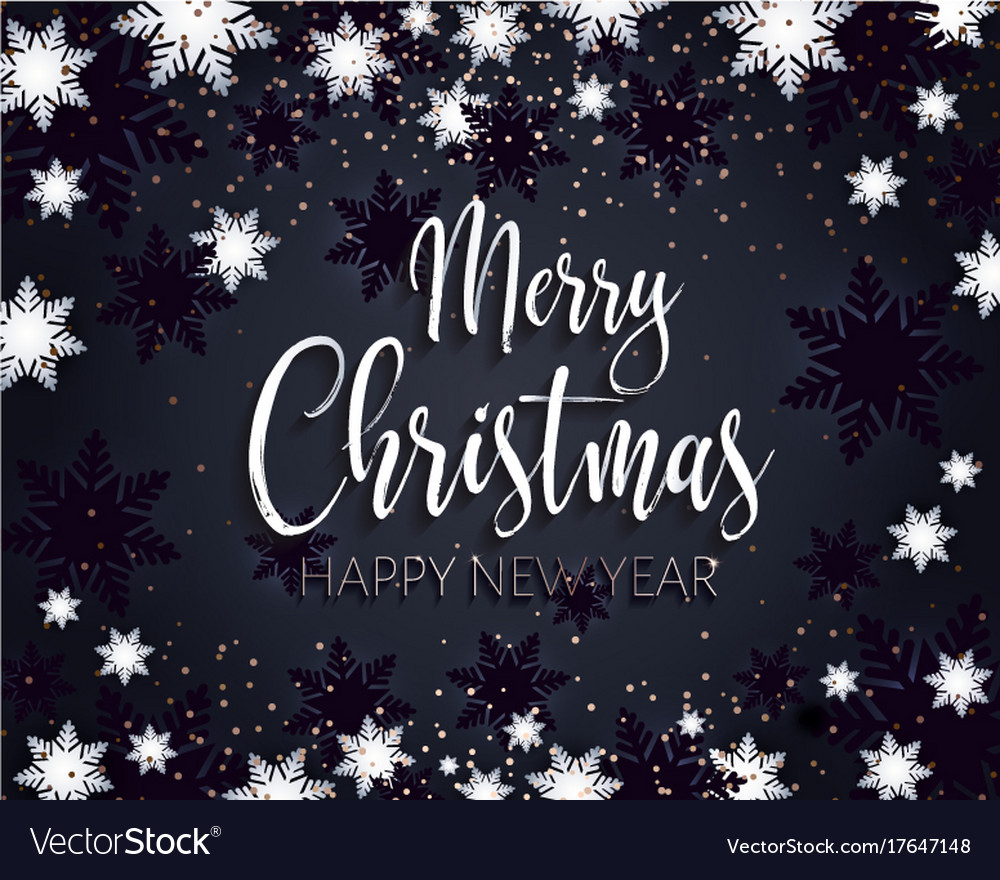 Merry Christmas And Happy New Year Greeting Banner