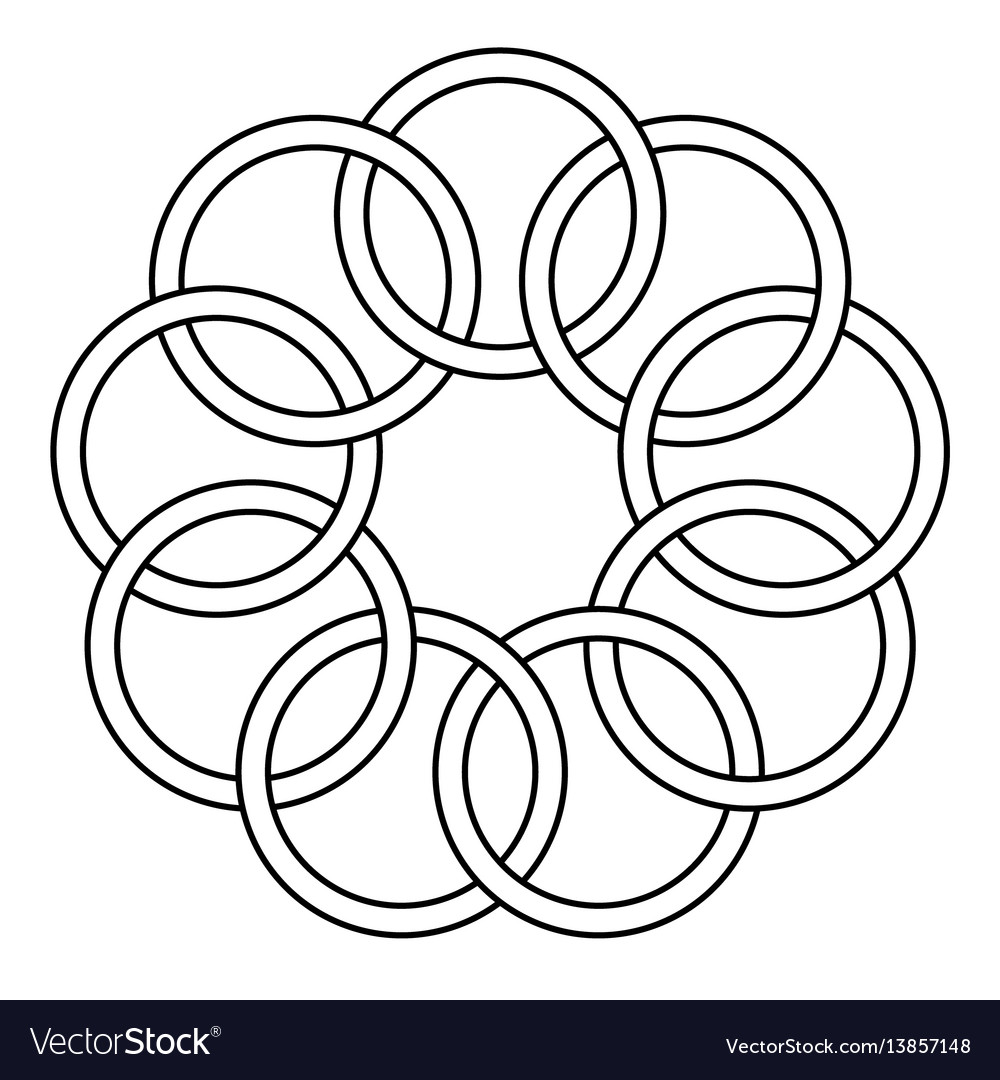 Pattern of the binding rings vector image
