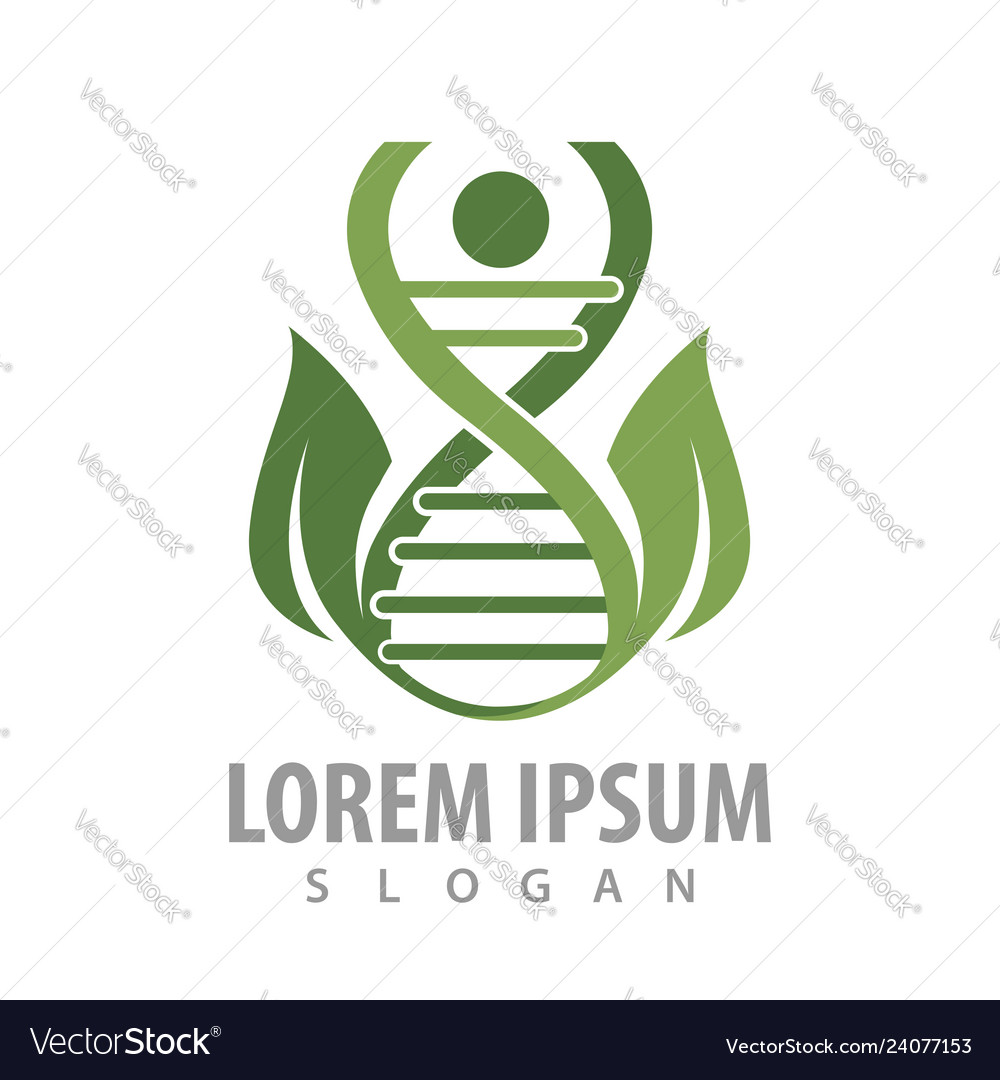 Dna human leaf logo concept design symbol graphic