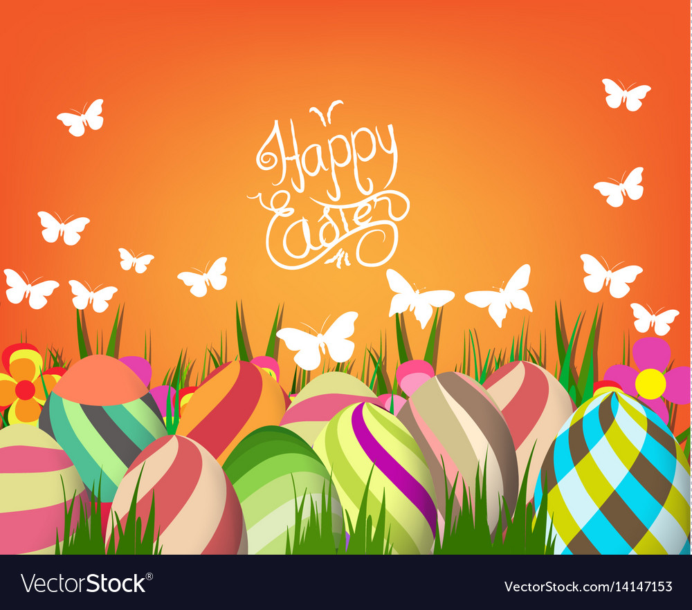 Handwriting inscription happy easter template
