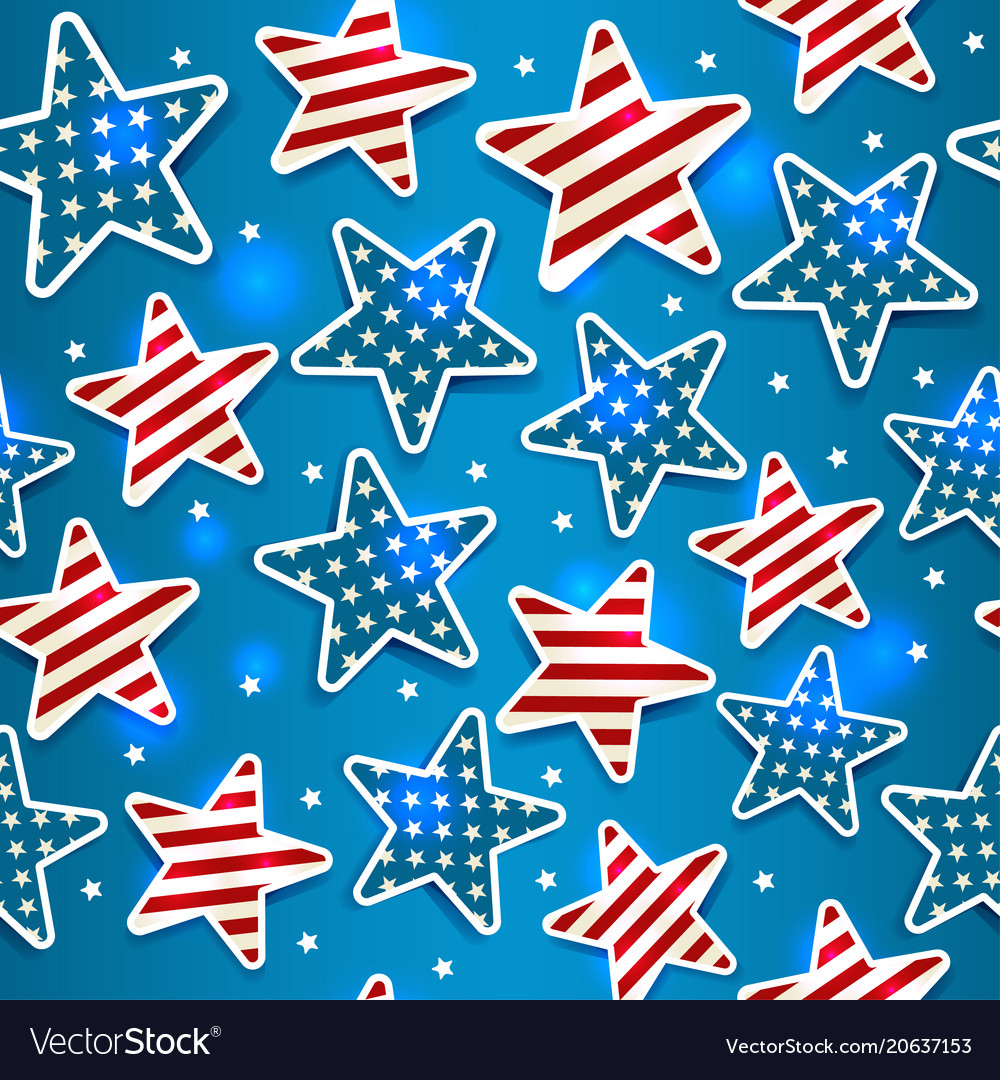 Memorial day with star seamless