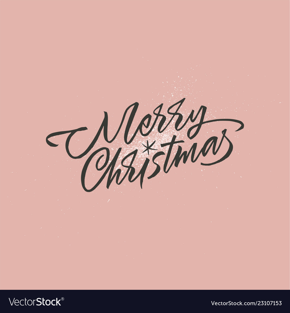 Merry christmas lettering with a star