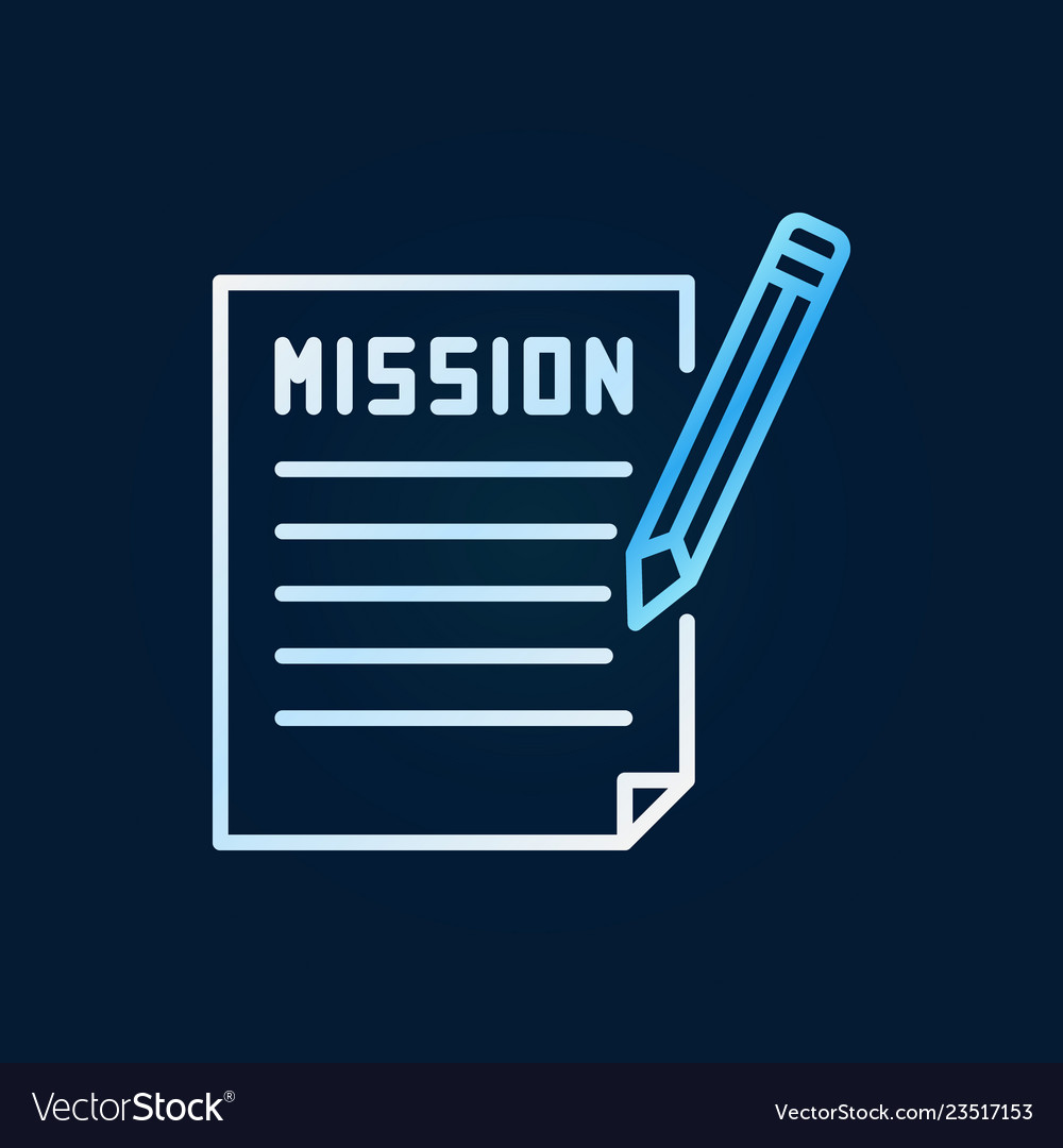Mission document with pencil colored line