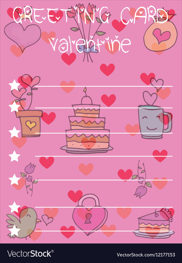Valentine Greeting Card Backgrounds Royalty Free Vector