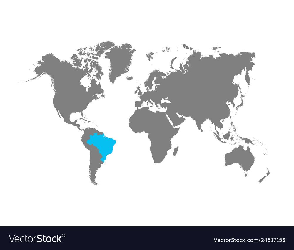 Brazil map is highlighted in blue on the world map