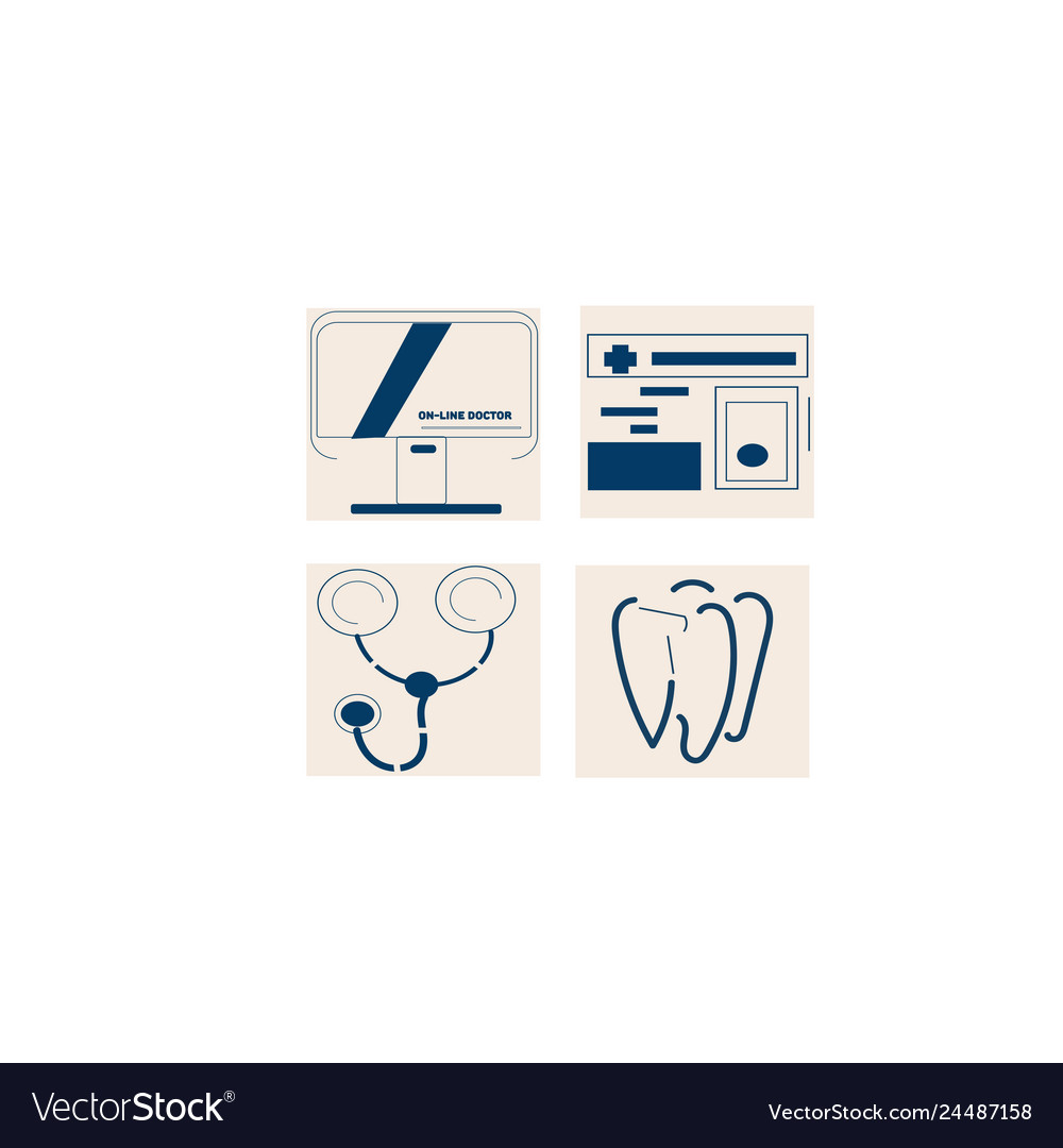 Medical icon set for web for online concept