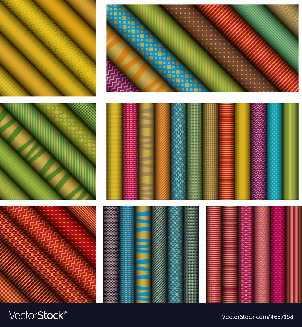 Rolled paper textures vector image on VectorStock