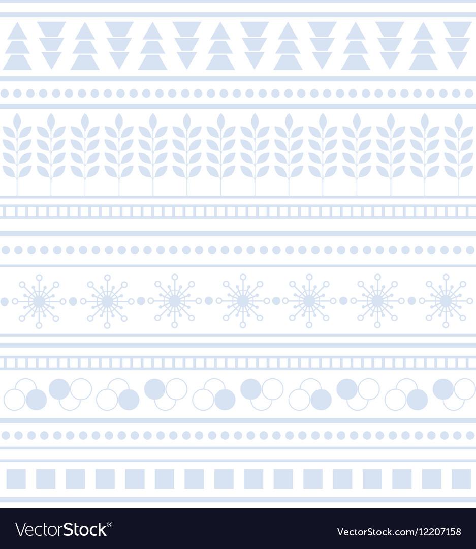 Striped geometric ornament Seamless winter pattern