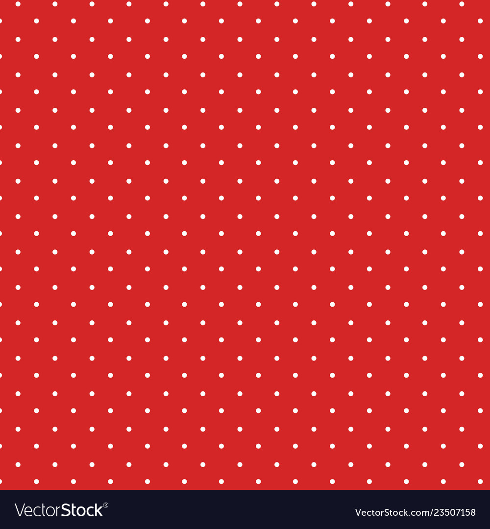 Vintage polka dots white and red pattern colorful