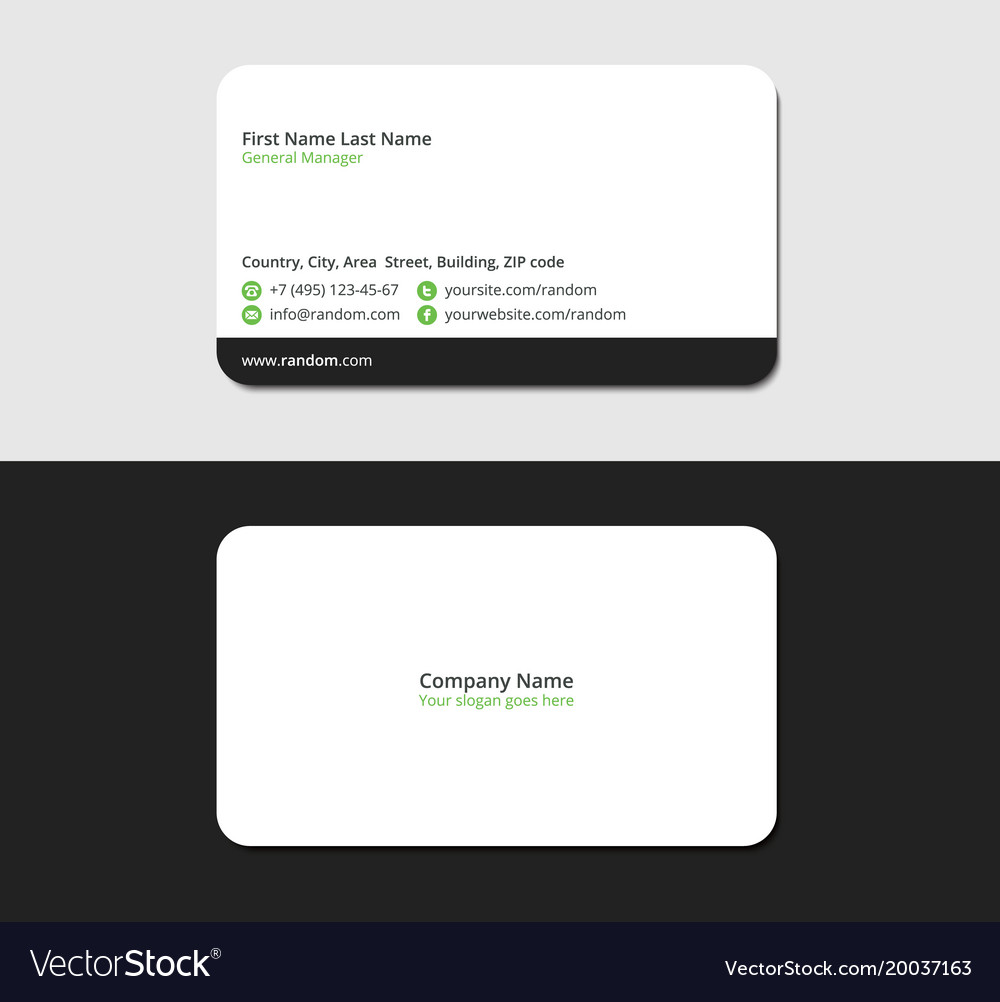 Accounting And Financial Business Card Royalty Free Vector
