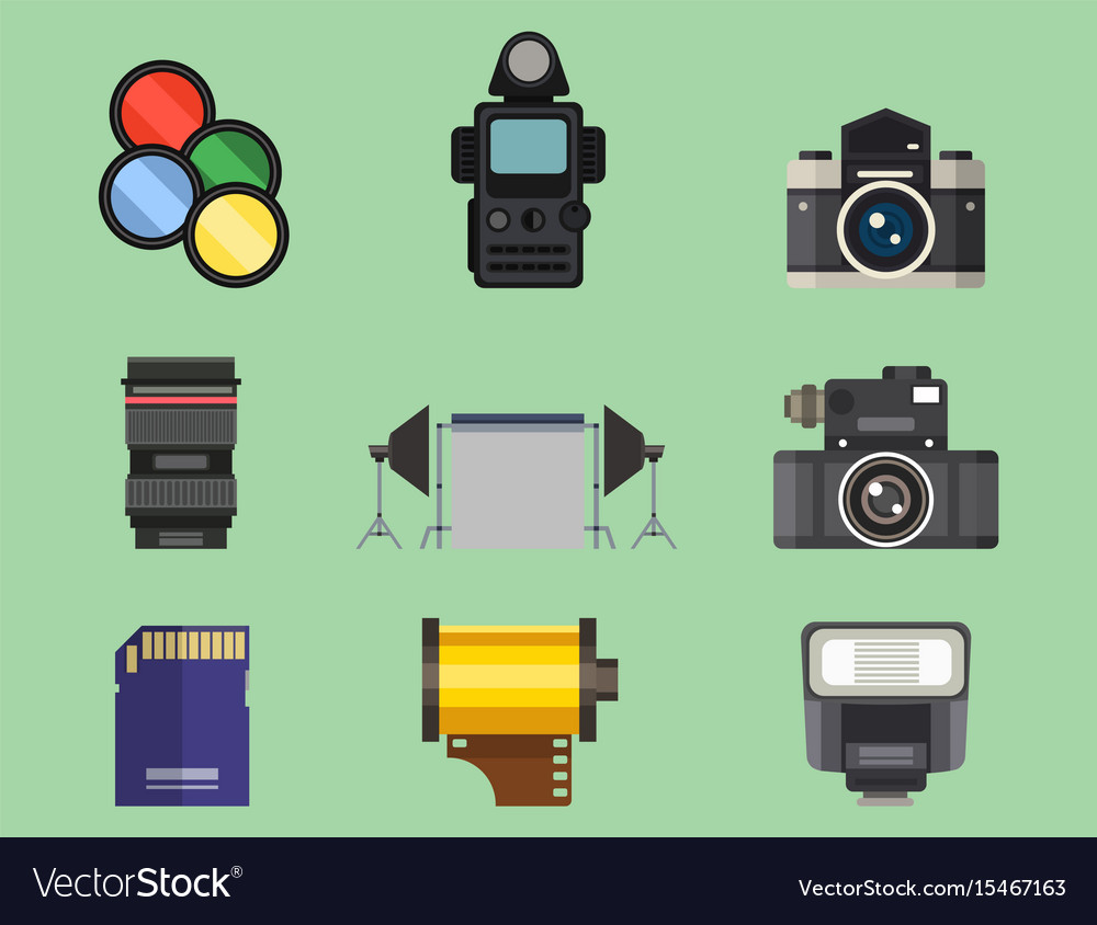 Camera photo optic lenses set different types