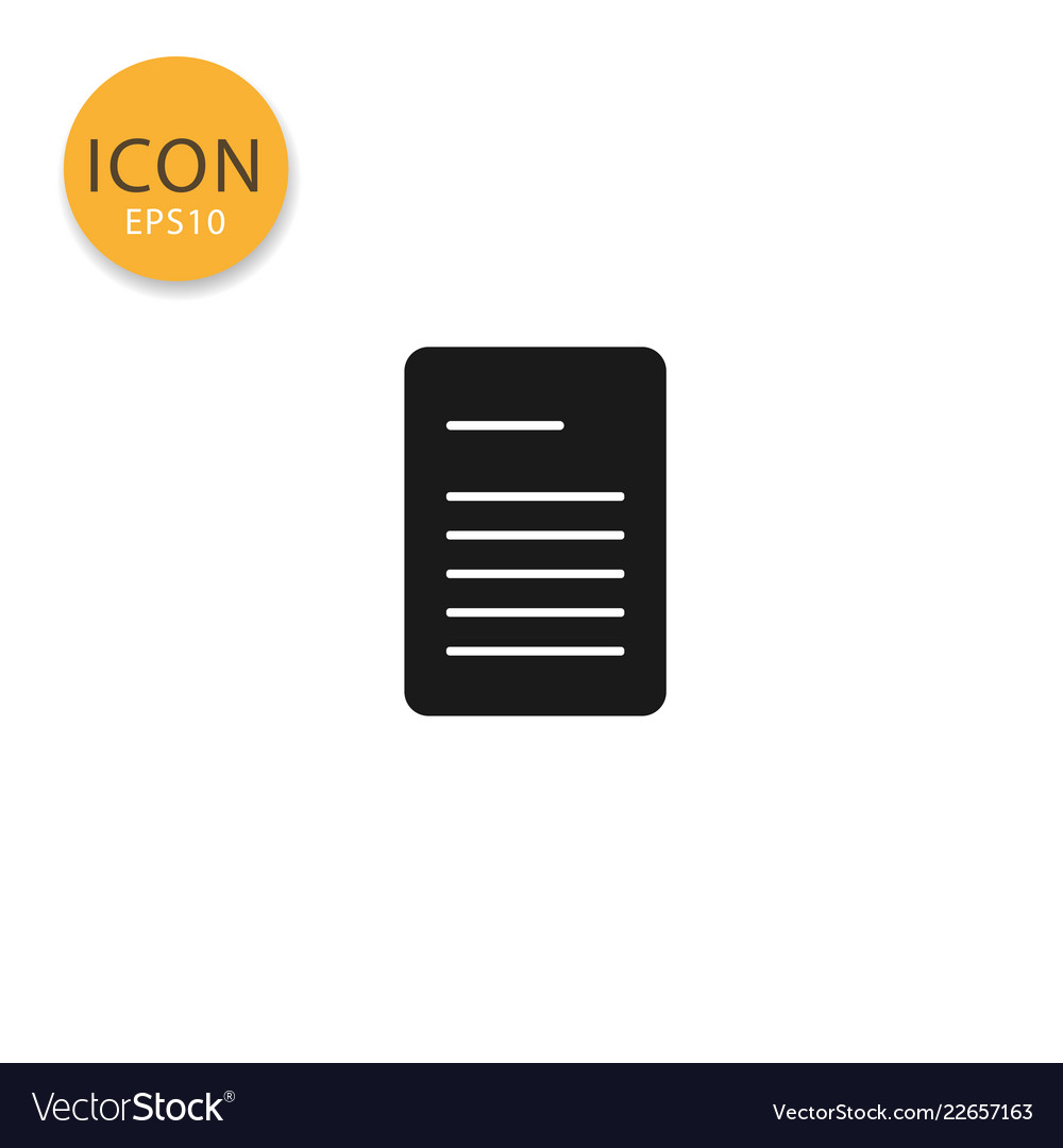 Document paper icon isolated flat style