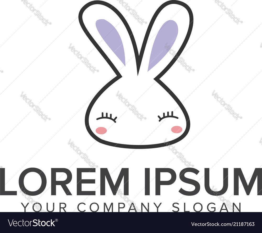 Funny rabbit logo animal logo design concept