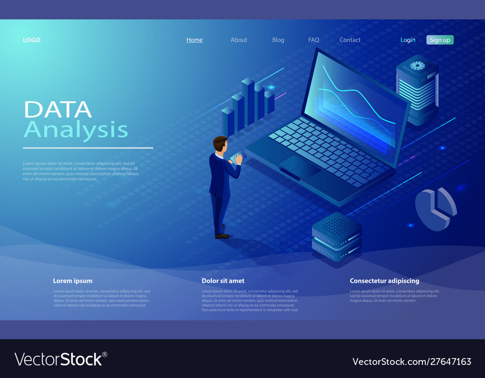 Man analyze diorams and graphics data analysis